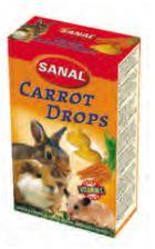 Sanal Snacks Rongeurs Gouttes de Carotte